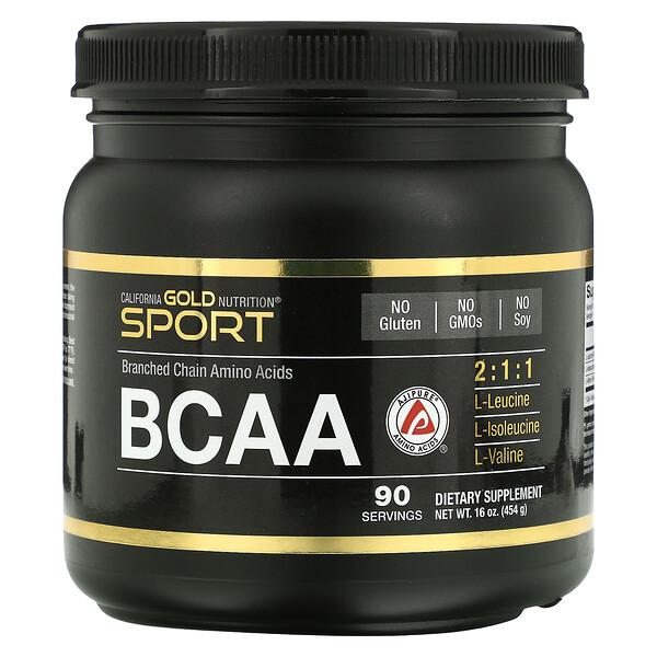 BCAA en polvo, AjiPure®, Aminoácidos de cadena ramificada, 454g (16oz)