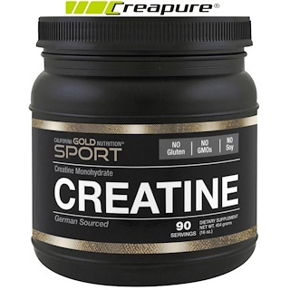 California Gold Nutrition, Creatine Powder, Micronized Creatine Monohydrate, Creapure, Unflavored, 16 oz (454 g)