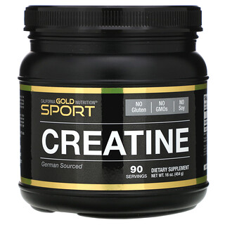 California Gold Nutrition, Creatine Monohydrate, Unflavored, 16 oz (454 g)