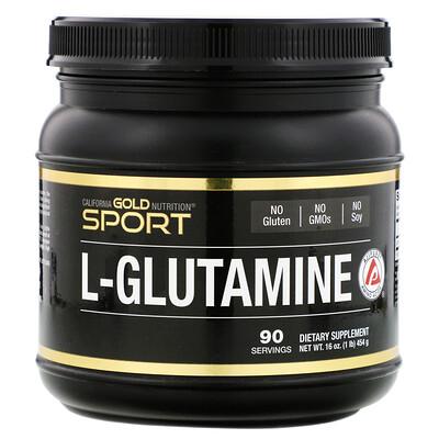 California Gold Nutrition AjiPure, порошок L-глютамина, без глютена, 454г (16унций)