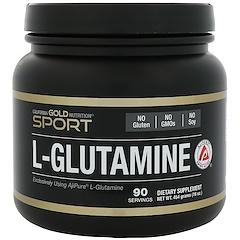 California Gold Nutrition, L-グルタミン、AjiPure、ピュアパウダー、グルテンフリー、16オンス (454 g)