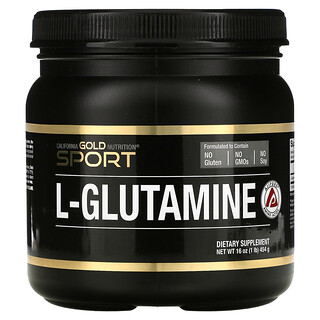 California Gold Nutrition, AjiPure, Poudre de L-glutamine, Sans gluten, 454g