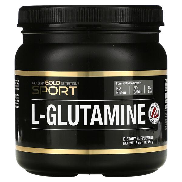 L-Glutamine Powder, AjiPure, Gluten Free, 16 oz (454 g)