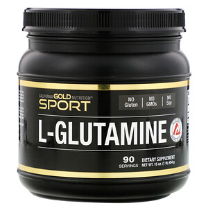 California Gold Nutrition, L-Glutamine Powder, AjiPure, Gluten Free, 16 oz (454 g) отзывы покупателей