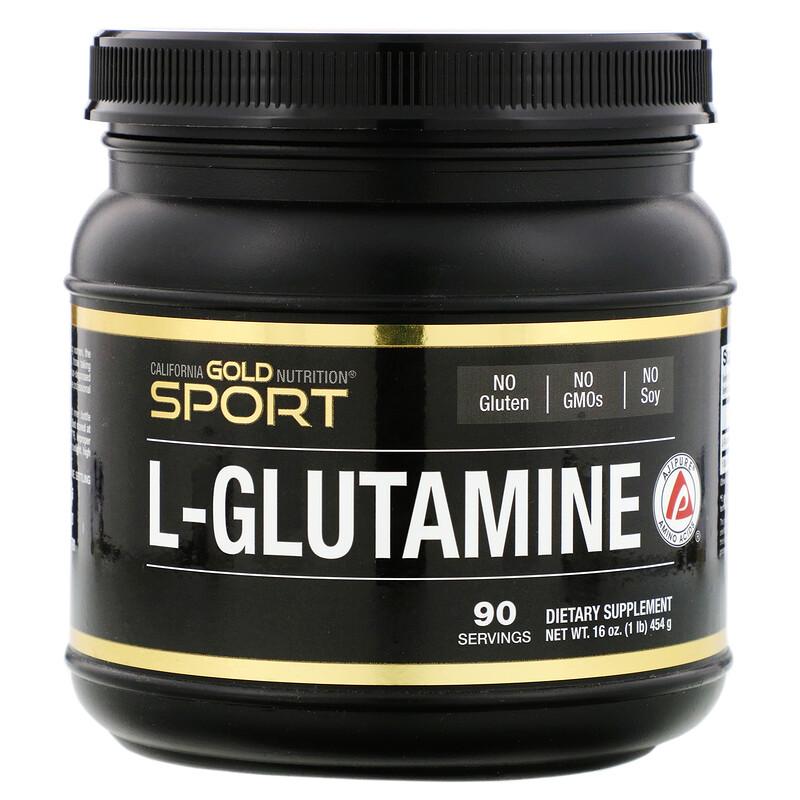 California Gold Nutrition, L-グルタミンパウダー、AjiPure(アジピュア)、グルテンフリー、454g(16oz)