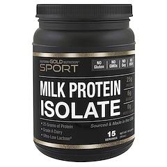 California Gold Nutrition, ミルクプロテインアイソレート、超低乳糖、グルテンフリー、16オンス (454 g)