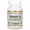 California Gold Nutrition, VitaminaD3, 125mcg (5000UI), 90cápsulas blandas de gelatina de pescado