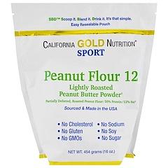 California Gold Nutrition, Peanut Butter Powder, 12% Fat, Gluten Free, 16 oz (454 g)