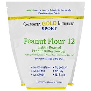 California Gold Nutrition, Peanut Butter Powder, 12% Fat, Gluten Free, 16 oz (454 g) отзывы
