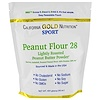 California Gold Nutrition, Peanut Butter Powder, 28% Fat, Gluten Free, 16 oz ( 454 g)