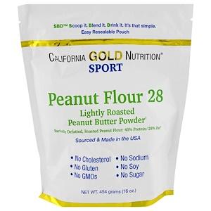 California Gold Nutrition, Peanut Butter Powder, 28% Fat, Gluten Free, 16 oz ( 454 g) отзывы покупателей