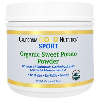 California Gold Nutrition, Organic Sweet Potato Powder, Complex Carbs, Gluten Free, 16 oz (454 g)