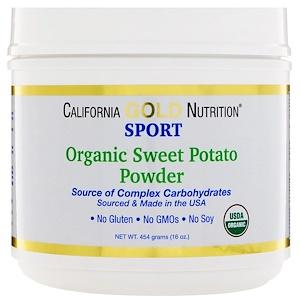 California Gold Nutrition, Organic Sweet Potato Powder, Complex Carbs, Gluten Free, 16 oz (454 g) отзывы покупателей