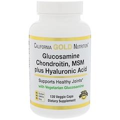 California Gold Nutrition, グルコサミン・コンドロイチン・MSM+ヒアルロン酸、植物性カプセル120個