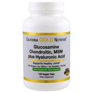 California Gold Nutrition, グルコサミン、コンドロイチン、MSMプラスヒアルロン酸、120個のベジキャップ