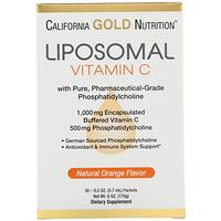 Liposomal Vitamin C, Natural Orange Flavor, 1000 mg, 30 Packets, 0.2 oz (5.7 ml) Each - фото