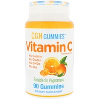 Витамин С, натуральный апельсиновый вкус, вегетарианский, 90 жевательных капсул - фото
