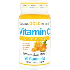 California Gold Nutrition, Vitamin C Gummies, Natural Orange Flavor, 90 Gummies