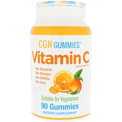 California Gold Nutrition, Vitamin C Gummies, Gluten-Free, Non GMO, No Gelatin, Natural Orange Flavor, 90 Gummies