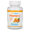 California Gold Nutrition, علكات فيتامين ج، نكهة البرتقال الطبيعي، خالي من الجيلاتين، 90 علكة