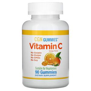 California Gold Nutrition, Vitamin C Gummies, Natural Orange Flavor, Gelatin Free, 90 Gummies отзывы покупателей