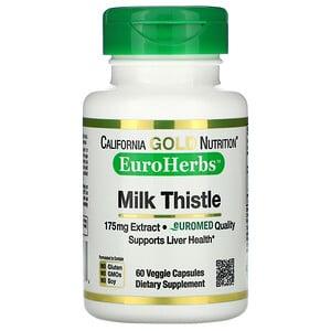 California Gold Nutrition, EuroHerbs, Milk Thistle Extract, 80% Silymarin, 175 mg, 60 Veggie Caps отзывы