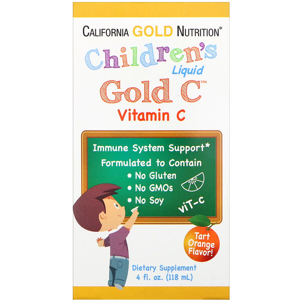 Children's Liquid Gold Vitamin C, USP Grade, Natural Orange Flavor, 4 fl oz (118 ml)