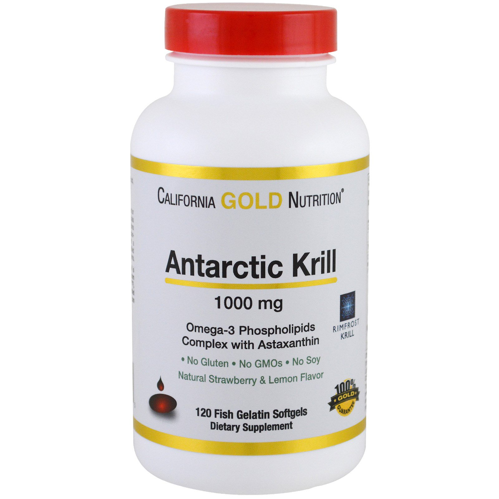 California gold nutrition antarctic krill oil with for Fish oil with astaxanthin