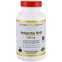 Жир арктического криля, с астаксантином, RIMFROST, натуральный клубничный и лимонный вкус, 1000 мг, 120 желатиновых капсул-рыбок - фото