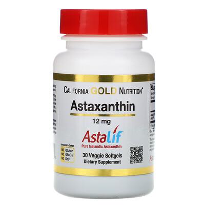 Фото - Астаксантин, чистый исландский продукт AstaLif, 12мг, 30растительных мягких таблеток расслабление и сон 60 растительных таблеток