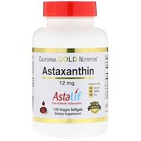 Astaxanthin, Astalif, 12 mg, 120 Veggie Softgels - фото