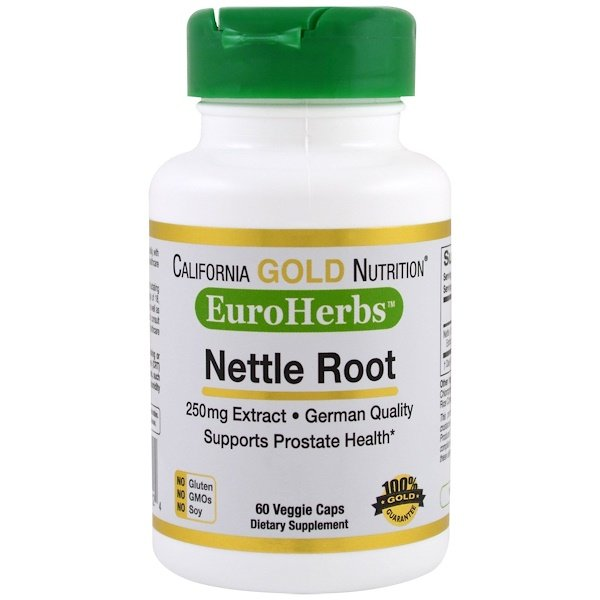 California Gold Nutrition, Nettle Root Extract, EuroHerbs, 250 mg, 60 Veggie Caps