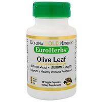 Оливковые листья XT EuroHerbs 500 mg, VC EM, 60 карат - фото