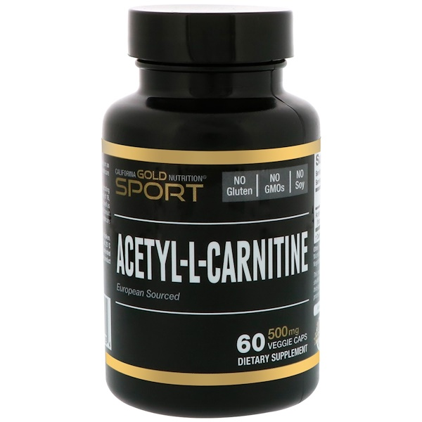 California Gold Nutrition, SPORT, Acetyl-L-Carnitine, 500 mg, 60 Veggie Capsules