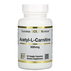 California Gold Nutrition, Acetyl-L-Carnitine, 500 mg, 60 Veggie Capsules отзывы покупателей