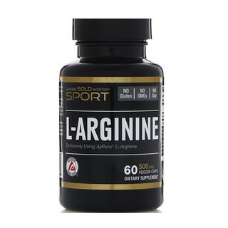 California Gold Nutrition, L- أرجينين، أجيبيور، 500 ملغ، 60 كبسولة نباتية