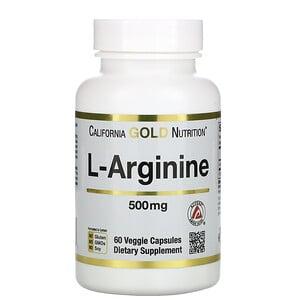 California Gold Nutrition, L-Arginine, AjiPure, 500 mg, 60 Veggie Caps отзывы покупателей