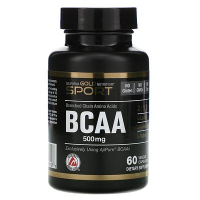 BCAA, аминокислоты с разветвленными цепями AjiPure®, 500мг, 60растительных капсул bcaa аминокислоты с разветвленными цепями ajipure® 500мг 60растительных капсул