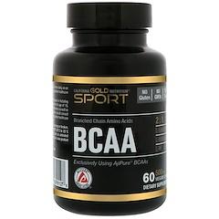 California Gold Nutrition, BCAA, AjiPure, 분지사슬아미노산, 글루텐 프리, 500 mg, 60 베지 캡슐