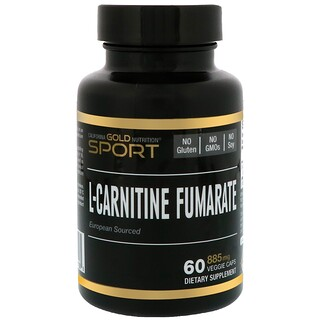 California Gold Nutrition, L-Carnitine Fumarate, European Sourced, Alfasigma, 885 mg, 60 Veggie Caps