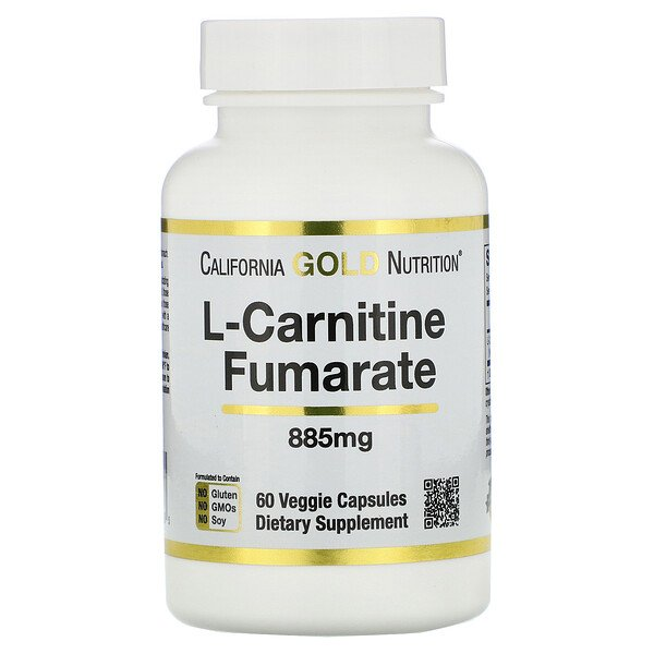 L-Carnitine Fumarate, European Sourced, Alfasigma, 885 mg, 60 Veggie Caps