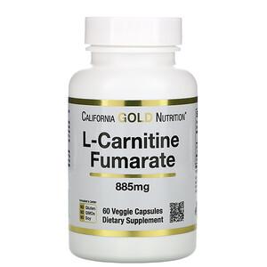 California Gold Nutrition, L-Carnitine Fumarate, European Sourced, Alfasigma, 885 mg, 60 Veggie Caps отзывы покупателей