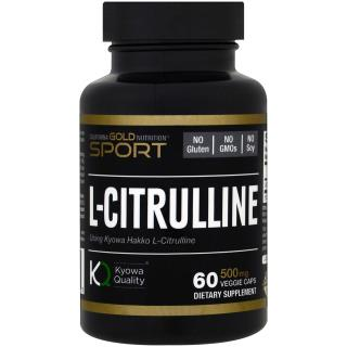 California Gold Nutrition, L-Citrulline, Kyowa Hakko, 500 mg, 60 Veggie Caps