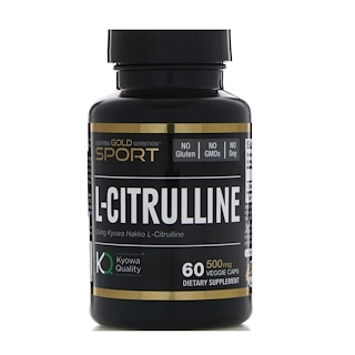California Gold Nutrition, L-Citrulline, Kyowa Hakko, 500 mg, 60 Veggie Caps