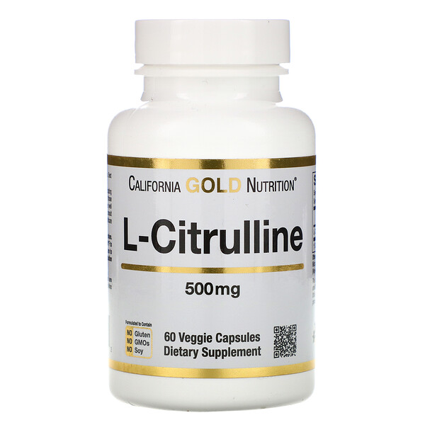 California Gold Nutrition, L-citrulina, 500 mg, 60 cápsulas vegetales