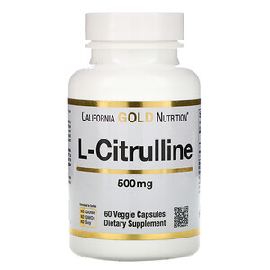 California Gold Nutrition, L-Citrulline, 500 mg, 60 Veggie Capsules отзывы покупателей