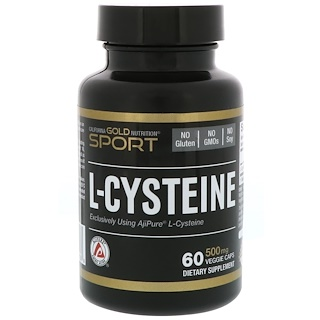 California Gold Nutrition, L-Cysteine, AjiPure, 500 mg, 60 Veggie Caps
