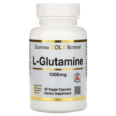 Фото - SPORT, L-глютамин, 1000мг, 60растительных капсул l theanine двойная сила 200 мг 60 растительных капсул