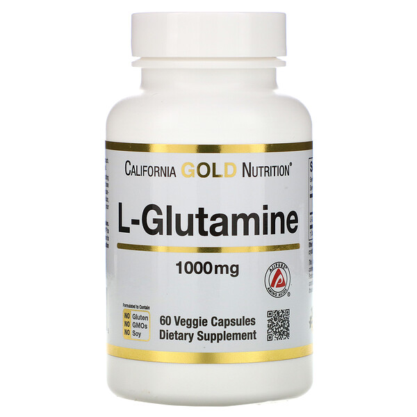 California Gold Nutrition, SPORT L-Glutamine, 1,000 mg, 60 Veggie Capsules