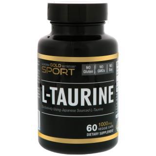 California Gold Nutrition, L-Taurine, 1000 mg, 60 Veggie Caps